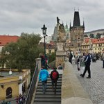 very close Charles Bridge