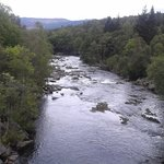 River Tummel which runs past site