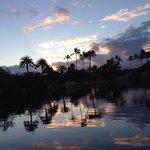 gorgeous sunrise greets you on ala wai