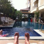 View on pool (and my feet)