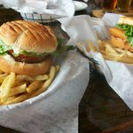 Crab cake sandwich and Wahoo sandwich special