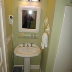 Bathroom in Room 6, also has tub/shower/toilet, small but very nice