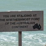The northerly tip of Australia