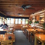 best fluffy pancakes, friendly service, knotty pine decor perfect match for area