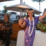 Hula greeting at our party (reception) at WBV