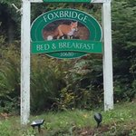 Foxbridge sign on Hwy 3