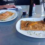 Ham & Cheese and Dijon Steak Crepes. Mmmmm