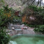 Natural hot water pools