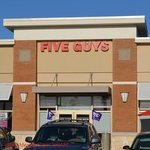 Front view of Five Guys.