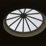 Skylight in stairwell