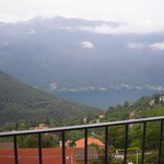View of Lake Como from our balcony