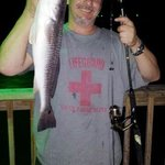 Awesome fishing night at the Hunts Castle. Me and my girl caught one red and two trouts