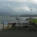 View from Edgcumbe Arms pub tables
