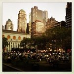 Bryant Park by night, 10 mins walk from the hotel