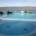 View of the pool & Lake Toba