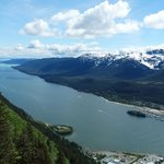 Gastineau Channel from on top of Mt Roberts