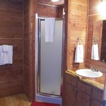 Roomy bathroom/shower