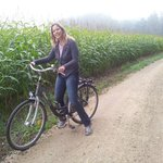 Riding to Cheverny with the B&B bicycle