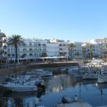The harbour area with Hotel Cala Bona