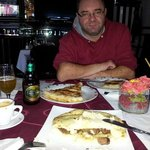 cevapi, meat pie, cheese pie, sarajevo beer....