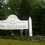 The Balsams main sign