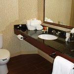 New guest bathrooms have granite counters and large Kohler tubs