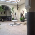 the Riad court from the breakfast table