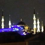 View of the Blue Mosque from the window of our room