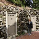 Jackie Webb by the old ice house in the back of tha Asa Packer mansion