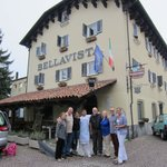 Our group in front of the hotel with Simona and Piergiorgio