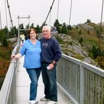 Swinging bridge at Grandfather Mountain