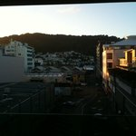 Wellington morning over Tory St from deck
