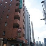 View of Nishitetsu Inn coming from the subway