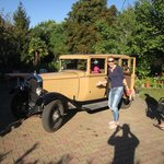 Visiting vineyards in an 84 year old car!