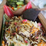 this is the one-wild bamboo shoot fried with glass noodles and fungus & eggs.  nothing more, not