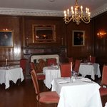 The lovely panelled dining room.