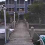 Fishing pier and back of Building 1
