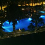 main pool at night