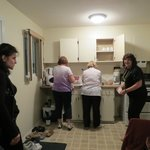 A group can easily cook a meal in the kitchenette suites