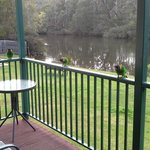 """Some of the """"Welcoming"""" committee on verandah"""