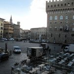 View from our room onto Piazza Signoria