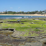 Moffat Beach - from north over rock pools