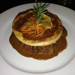 Hangar Steak with Onion Tart