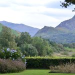 The garden and view of Snowdon