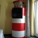 The fantastic lighthouse min bar / tv stand!