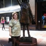 close to the hotel the famous Mary Tyler Moore statue (&me)