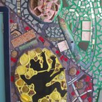Mosaics on the wall of the Magic Garden