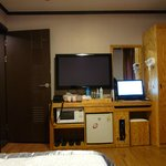 Double room including TV, PC, Microwave, water cooker, hair dryer and refrigirator