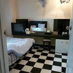 Double room with TV, AC, Fan, Refrigerator, Water cooker, hair dryer