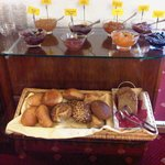 Nice selection of breads and jams
